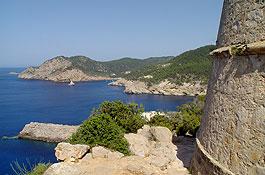 Paisaje de costa desde la torre de Balanzat (Foto: Xescu Prats)